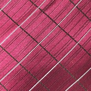 CALVIN KLEIN PENCIL CHECKED PATTERN TIE